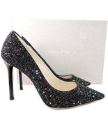Jimmy Choo 'romy' Pointy Toe Pumps Black RAINBOW Glitter Heels Shoes 37 - $369.00