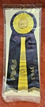 Vintage CHICAGO Kennel Club Award Ribbon 1963 AKC BEST OF BREED