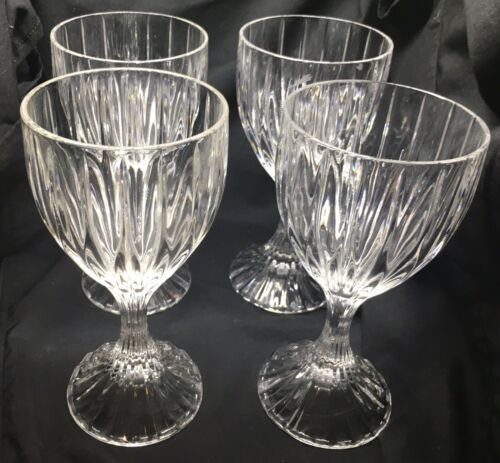 "Mikasa Park Lane Crystal Wine Glasses 6 1/4"" Set Of 4 - $53.84"