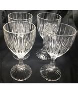 "Mikasa Park Lane Crystal Wine Glasses 6 1/4"" Set Of 4 - $53.84"