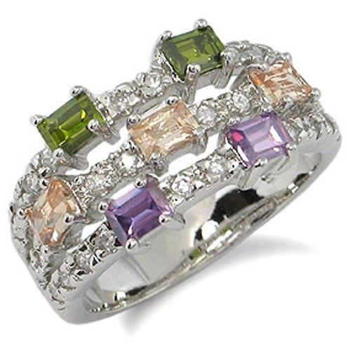 CZ RIGHT HAND RING - multicolor SIZE 5 last 1 SOLD OUT