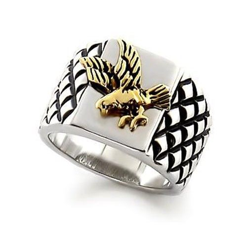 Two Tone United States Eagle Men's Ring - SIZE 13 (LAST ONE)