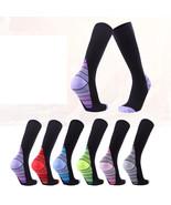 Men Socks Soccer Baseball Football Basketball Sports Over Knee Sock Comp... - $9.99