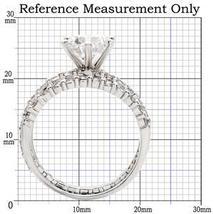 CZ WEDDING SET - Solitaire Engagement Ring & Pave CZ Eternity Band -SIZE 7 - 10 image 4