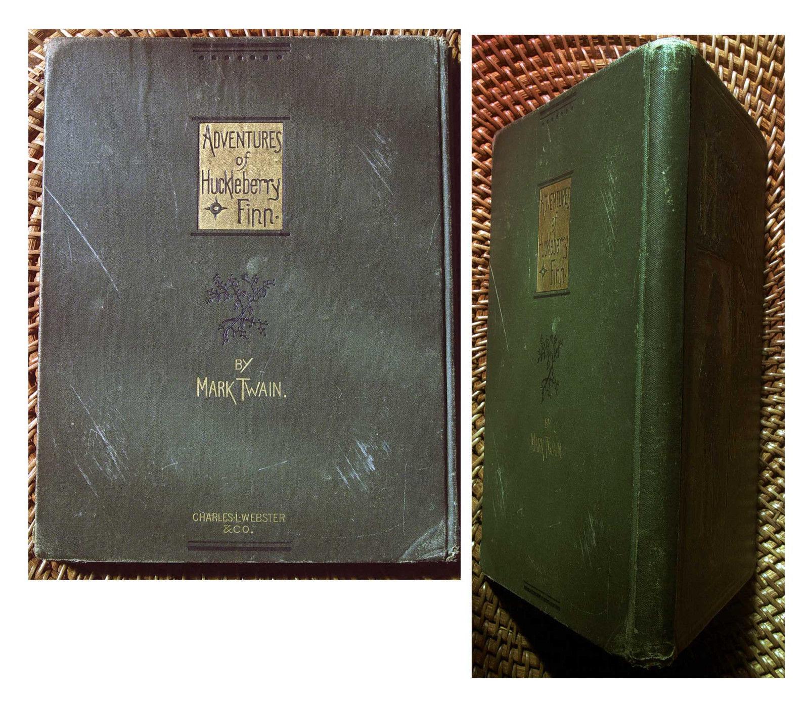 Mark Twain ADVENTURES OF HUCKLEBERRY FINN salesman's sample 1885. Rare.