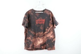 Vintage Levis Red Tab Mens XL Spell Out Acid Wash Short Sleeve Shirt Cotton - $34.60