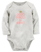 "Carters Girls ""Daddys Princess"" Bodysuit Grey - $7.91"