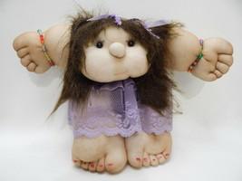 Vintage 1970s Revealing Breasts Pubic Female Woman Pantyhose Handmade Ar... - $79.19