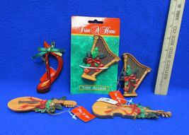 Lot 5 Trim A Home Brand Christmas Ornaments Musical Music Lot Harp Violi... - $7.69