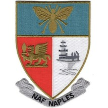 """4.5"""" NAVY NAVAL AIR FACILITY NAPLES ITALY EMBROIDERED PATCH - $16.24"""