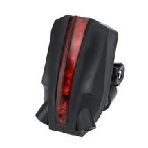 Waterproof Bike Bicycle LED Laser Beam Rear Tail Light 3 Modes Safety Lamp Warni - $9.70