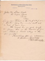 U.S. The Farmers and Merchants State Bank Argonia, Kans. 1902 Letter Ref... - $7.55
