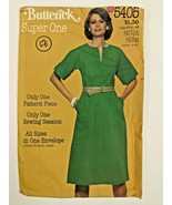 Vintage Butterick Sewing Pattern 5405 Womens Dress with Pockets Kimono S... - $9.70