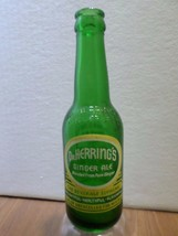 Vintage Dr. Herring's Ginger Ale 7 Seven Up Bottling 6 oz Green Soda Pop... - $17.82