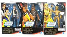 "Star Wars Galaxy of Adventures Han Solo Chewbacca C-3PO Threepio 5"" Figure - $38.07"