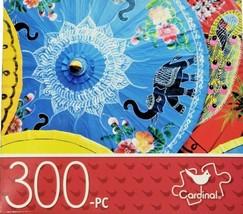 "CARDINAL 300 Piece Puzzle 14"" x 11"" Paper Parasols Hard/Small Pieces New - $9.89"