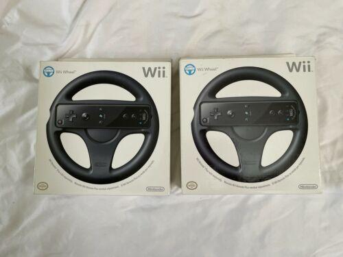 Lot (2) Nintendo Wii Wheel Game Controller Box Steering Mario Cart Racing