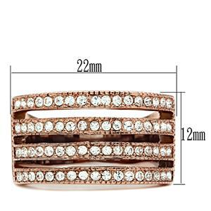 GORGEOUS 4 Rows of Crystal Fashion Band Ring - SIZE 5 image 2