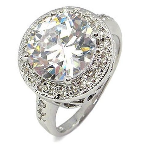 Antique Inspired 6.50 CT Round Cubic Zirconia Engagement Ring - SIZE 5 - 10