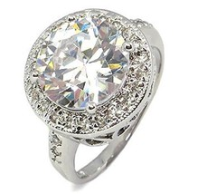Antique Inspired 6.50 CT Round Cubic Zirconia Engagement Ring - SIZE 5 - 10 image 1