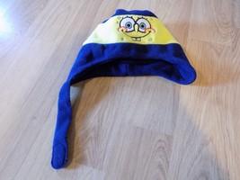 Toddler One Size Spongebob Squarepants Fleece Winter Hat Cap Navy Yellow... - $8.00