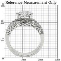 8 Prong Antique Inspired Cubic Zirconia Engagement Wedding Ring Set -SIZE 5 - 10 image 2