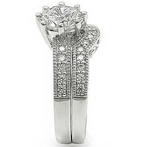 8 Prong Antique Inspired Cubic Zirconia Engagement Wedding Ring Set -SIZE 5 - 10 image 5