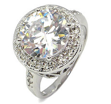 Antique Inspired 6.50 CT Round Cubic Zirconia Engagement Ring - SIZE 5 - 10 image 2