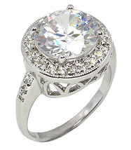 Antique Inspired 6.50 CT Round Cubic Zirconia Engagement Ring - SIZE 5 - 10 image 3