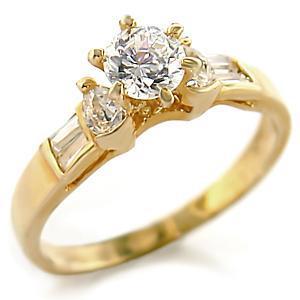 ENGAGEMENT RING - Gold Tone 1.1 Carat CZ Engagement Ring - SIZE 7 (2 LEFT)