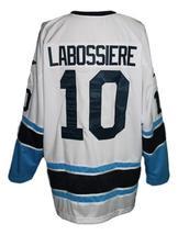 Any Name Number Houston Aeros Retro Hockey Jersey White Labossiere #10 Any Size image 2