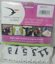 Destron Fearing DuFlex Visual ID Livestock Panel Tags LG White 25 Sets 1 to 25 image 1