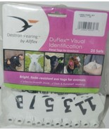 Destron Fearing DuFlex Visual ID Livestock Panel Tags LG White 25 Sets 1... - $26.99