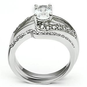 4 Prong Oval Shape Engagement and Wedding Cubic Zirconia Ring Set - SIZE 5 TO 10 image 4