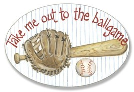 The Kids Room by Stupell Take me Out to The Ballgame Oval Wall Plaque - $29.37