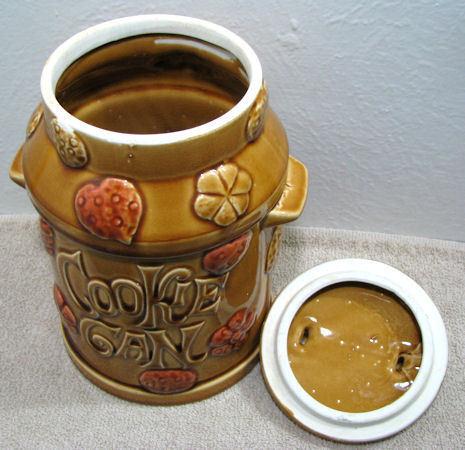 Vintage Cookie Can Cookie Jar Ceramic Japan Milk Can