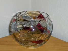 PartyLite Mosaic Candle Bowl 4 inch Votive Light Holder - $14.99