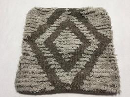 Pottery Barn Tan Gray Southwest Diamond Wool Blend Pillow Sham Cover Square - $19.99
