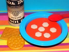 New! Kids Play Food Melissa & Doug Tomato Soup Can Crackers Spoon Bowl P... - $18.99