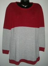 New with Tags Burgundy & Grey Knit Jersey Style Top XL - $15.83