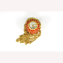 """Vivani Watch Womens Collection Red Stone Apple Pendant 26"""" Gold Necklace... - $9.46"""