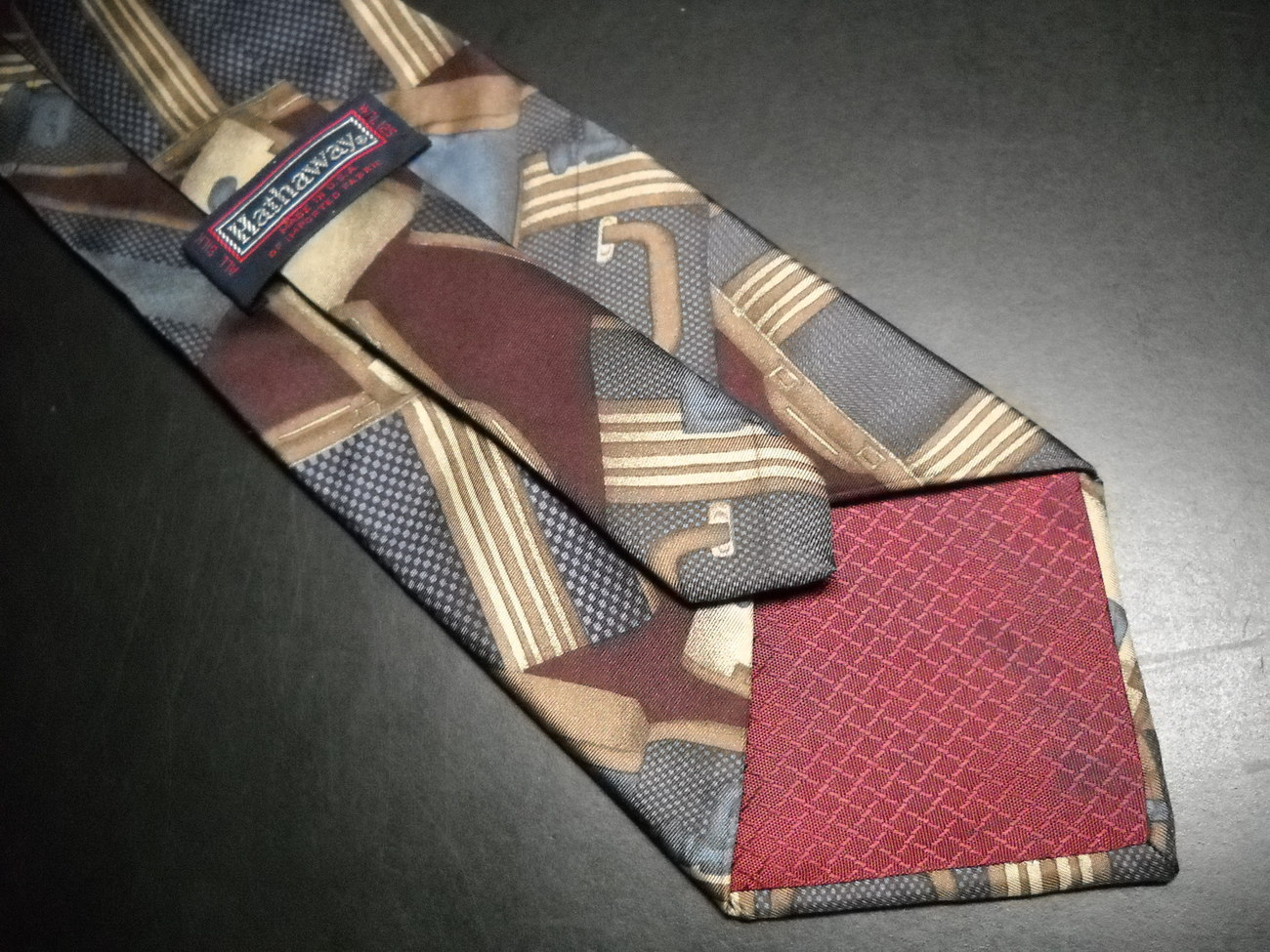 Hathaway Silk Neck Tie Luggage and Suitcases on Silk