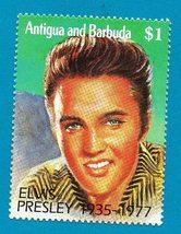 Mint Antigua & Barbuda $1.00 Elvis Presley Stamp   - $2.99