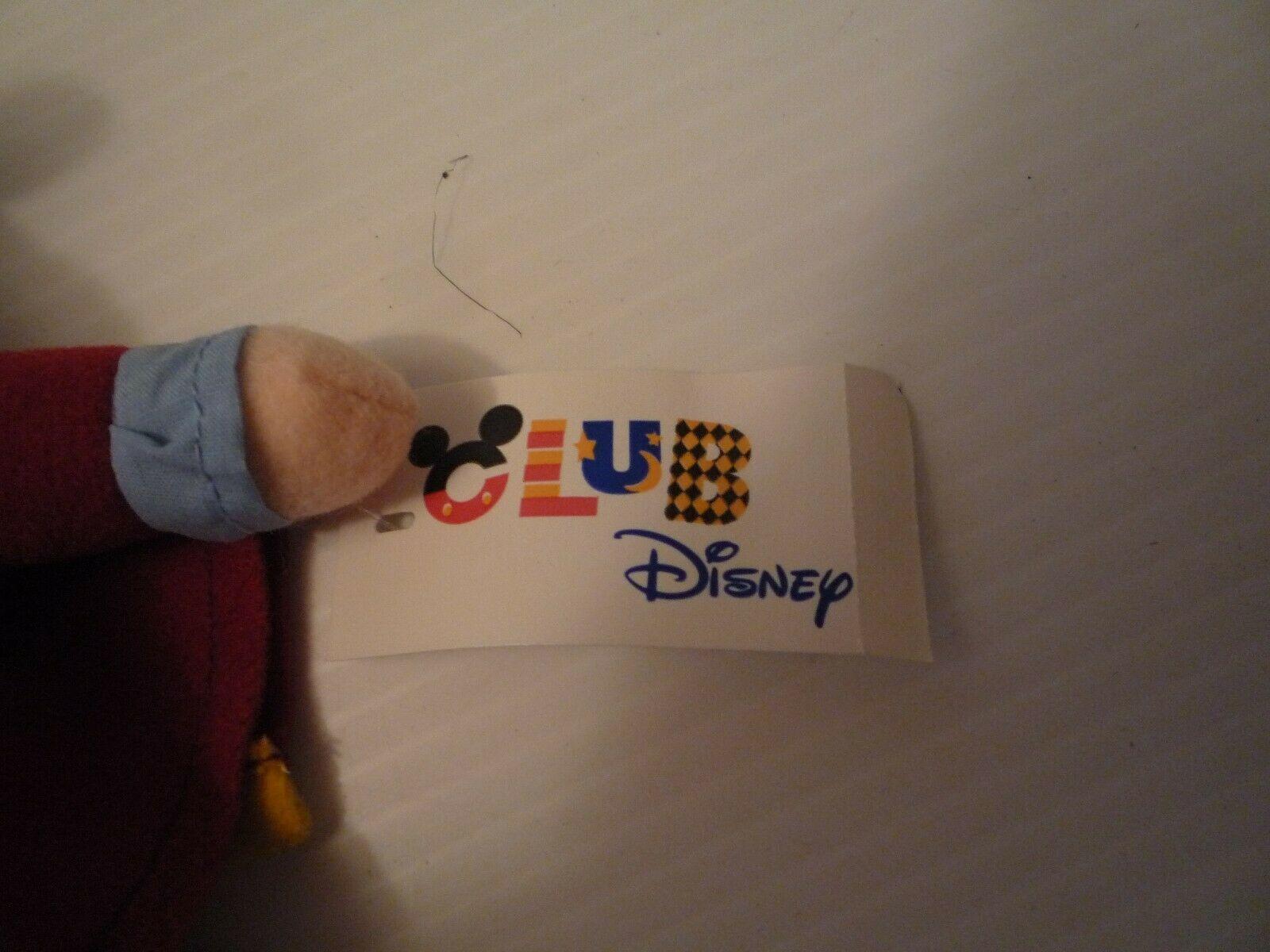 "Disney Captain Hook 10"" Disney Club Stuffed Plush Bean Bag Mint"