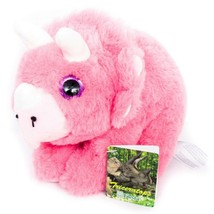"Fiesta Triceratops Plush 6"" New Pink Dinosaur L75797 Stuffed Animal Toy - $19.66"
