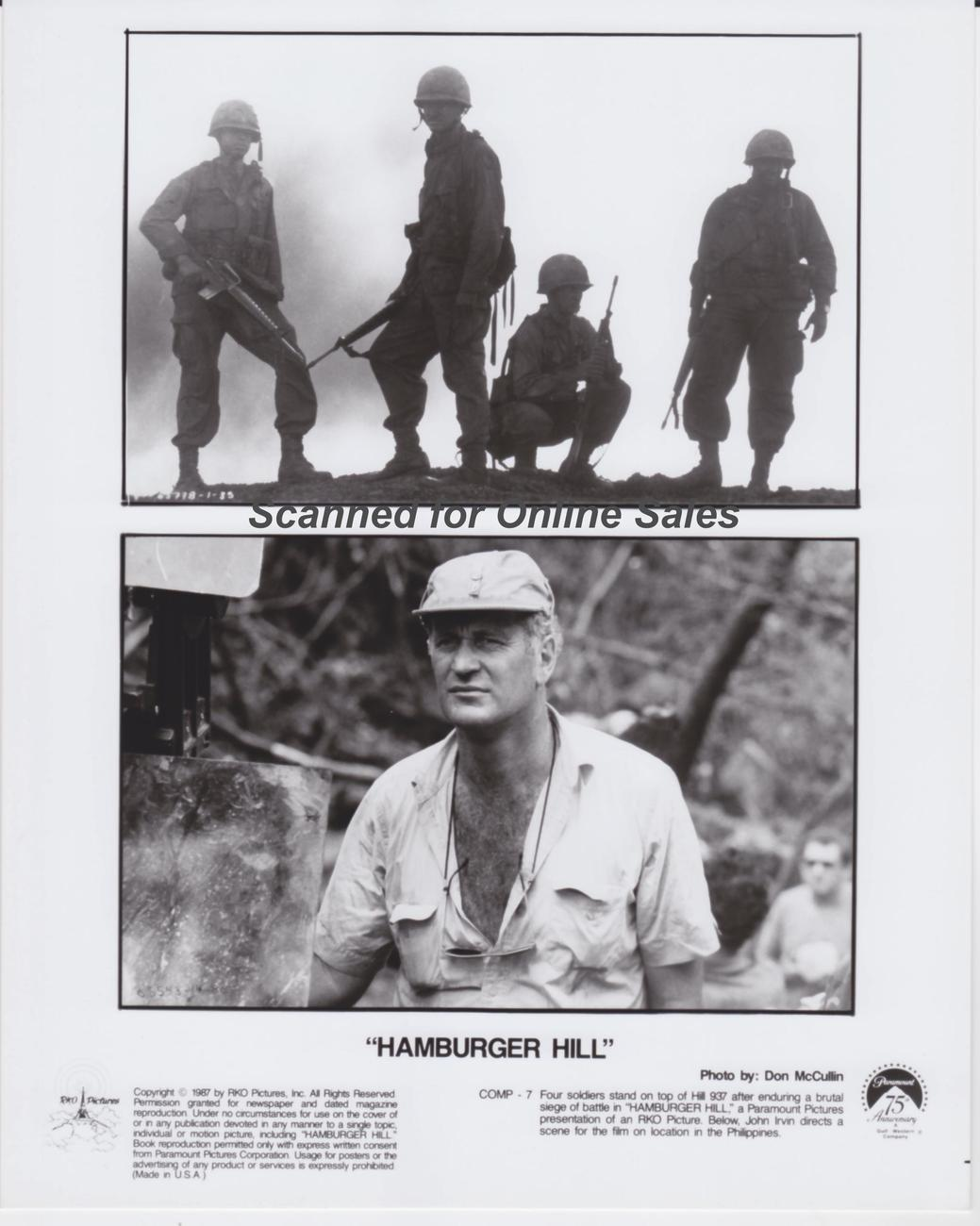Hamburger Hill John Irvin Director 8x10 Photo