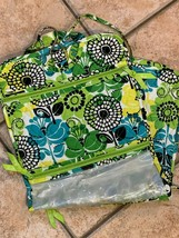 VERA BRADLEY LIMES UP FLORAL GREEN BLUE HANGING ORGANIZER COSMETIC JEWE... - $35.55