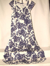 #3054 CAP SLEEVE NIGHT GOWN/LOUNDER DRESS FROM CORAL BAY, SIZE SMALL, NEW! - $17.81