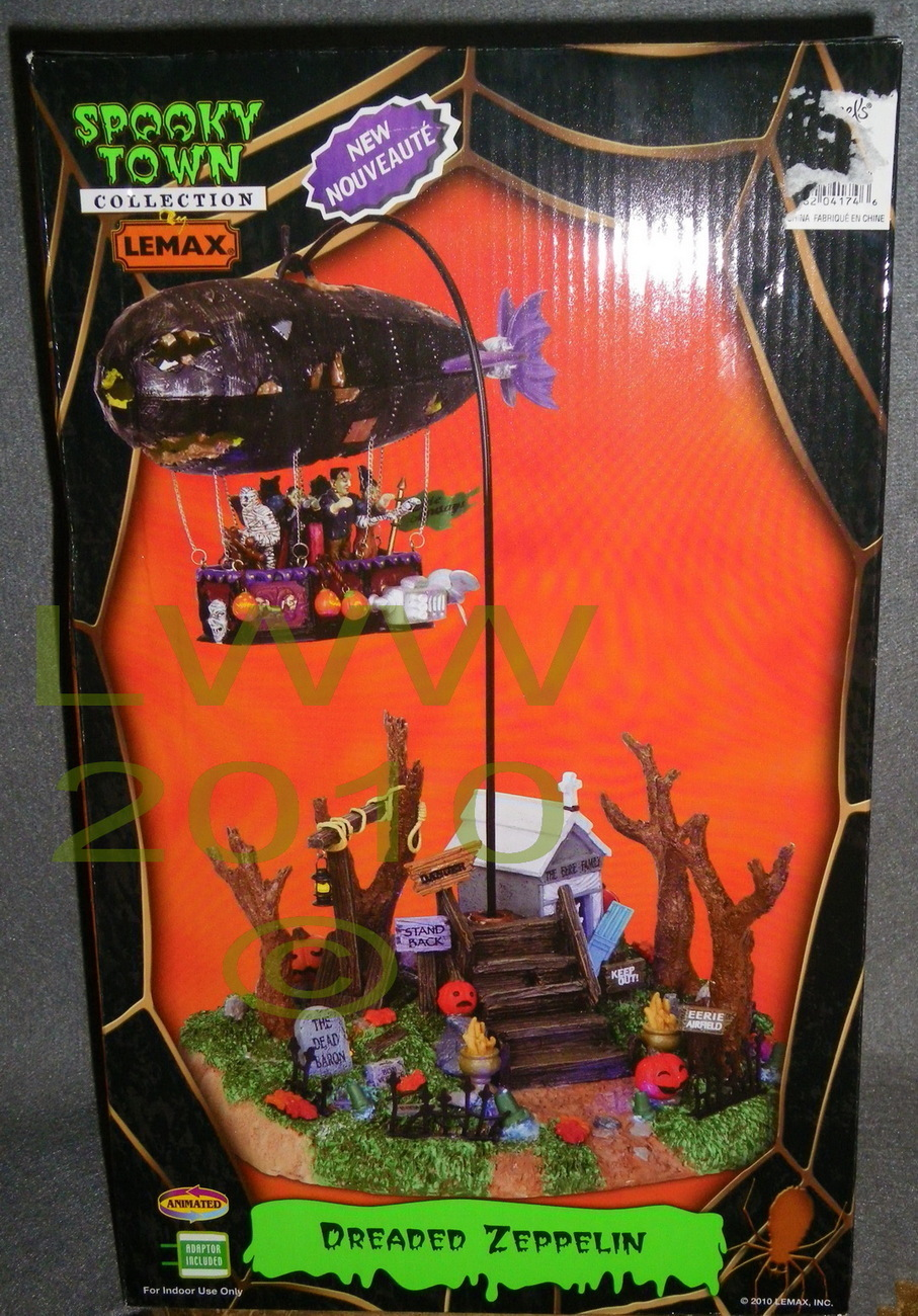 Lemax Halloween Spooky Town animated Dreaded Zeppelin