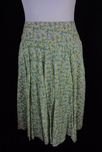 Talbots Skirt size 10 Green Yellow Floral Roses... - $29.97